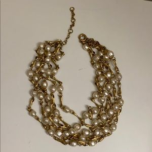 Jcrew pearl and chain necklace